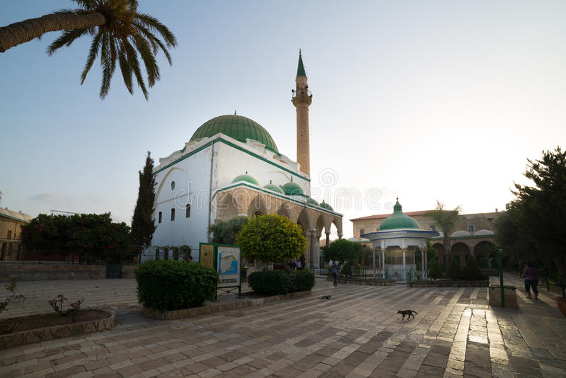 Moskee al-Jazzar in Akko stock afbeeldingen