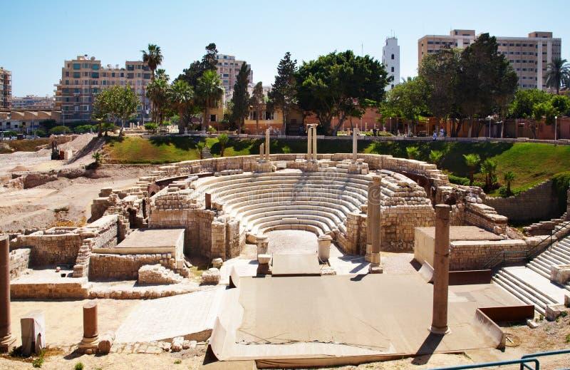 Moskee in Alexandrië, Egypte stock foto's