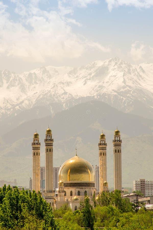 Moskee in Alma Ata, Kazachstan royalty-vrije stock fotografie