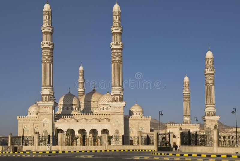 Moskee bij nacht royalty-vrije stock fotografie