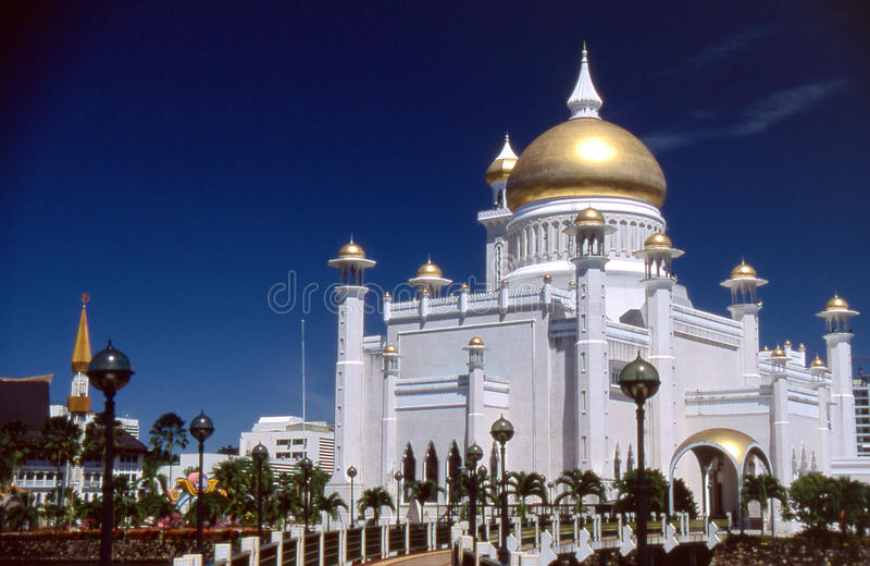 Moskee in Brunei Darussalam royalty-vrije stock foto