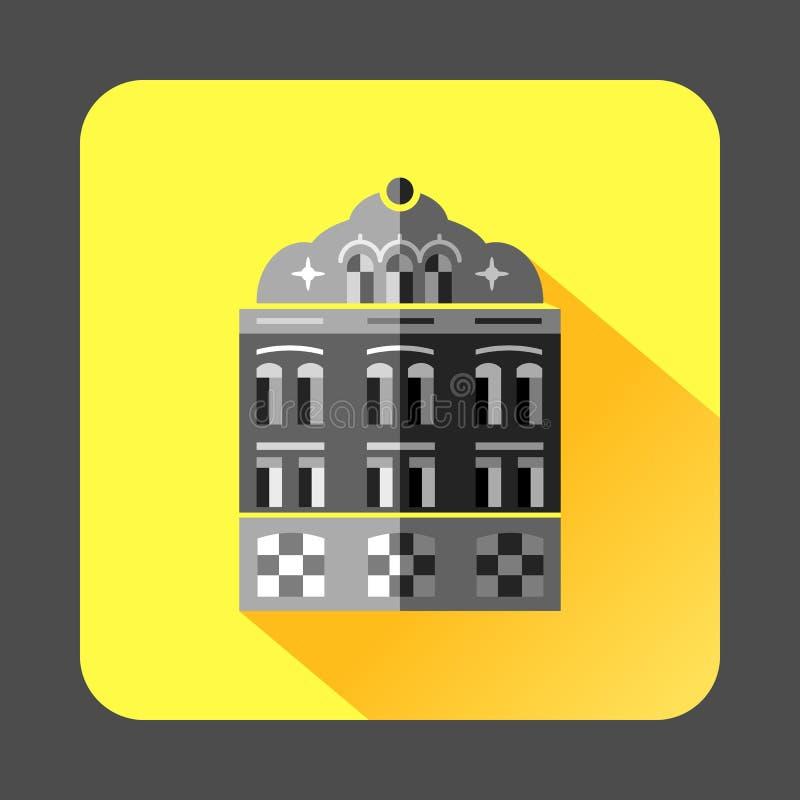 Moskee de bouwpictogram in vlakke stijl royalty-vrije illustratie