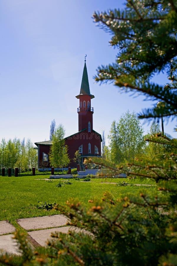 Moskee in de provinciale stad van Rusland royalty-vrije stock afbeelding