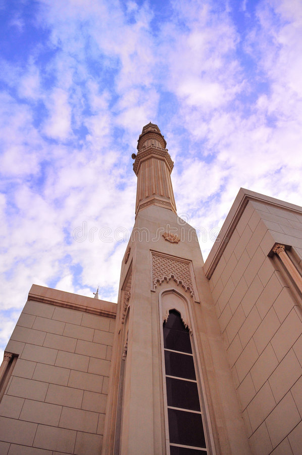 Moskee in Doubai stock foto's