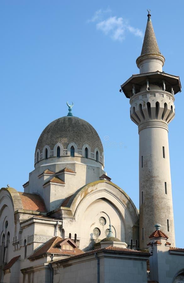 Moskee en minaret in Constanta. stock afbeelding