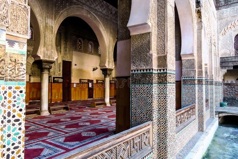 moskee in fes Marokko, foto als achtergrond royalty-vrije stock foto's