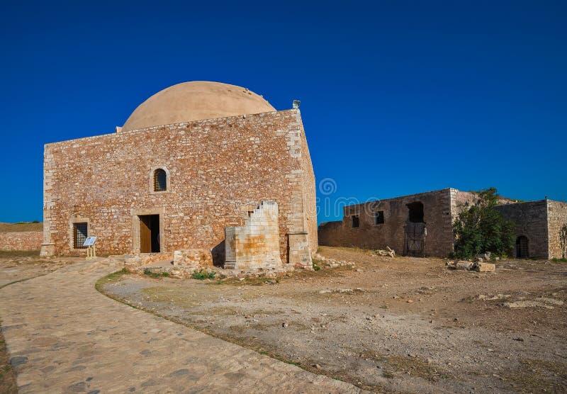 Moskee in Fortezza Rethymno royalty-vrije stock foto