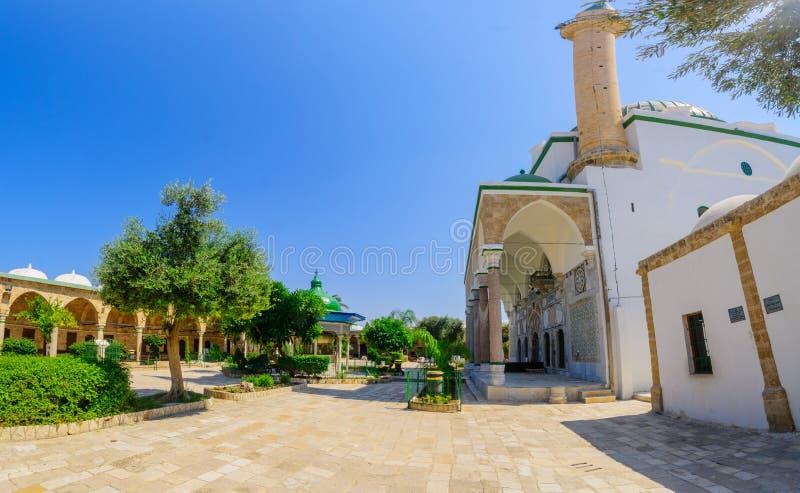 Moskee Gr-Jazzar de witte moskee in Acre Akko stock fotografie