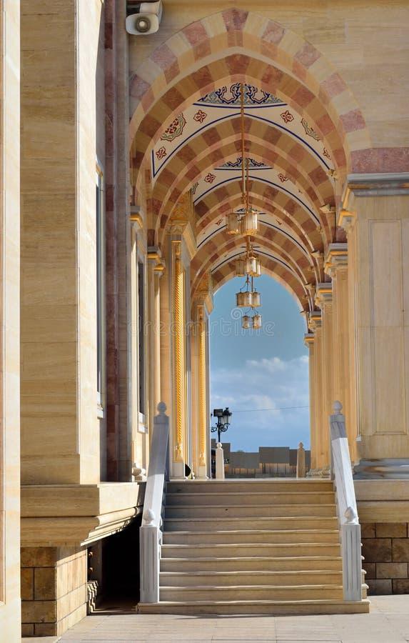 Moskee in Grozny stock fotografie