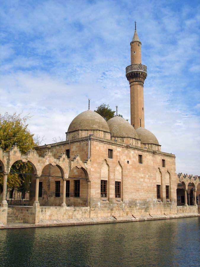 Moskee halil-ur-Rahman en Pool van Heilige Vissen in Sanliurfa, Turkije royalty-vrije stock foto