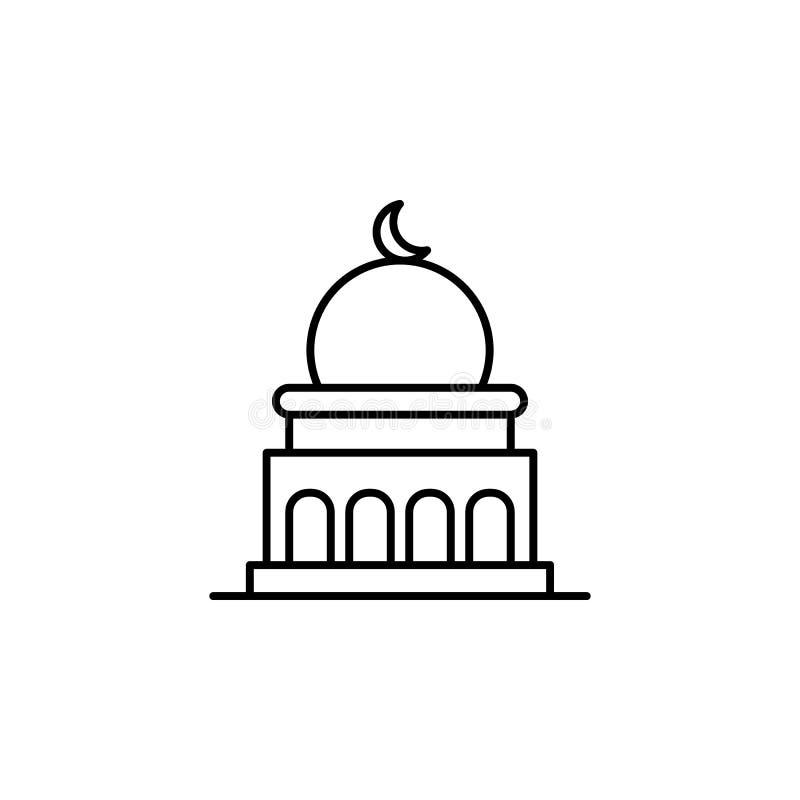moskee, het pictogram van het doodsoverzicht gedetailleerde reeks pictogrammen van doodsillustraties Kan voor Web, embleem, mobie royalty-vrije illustratie