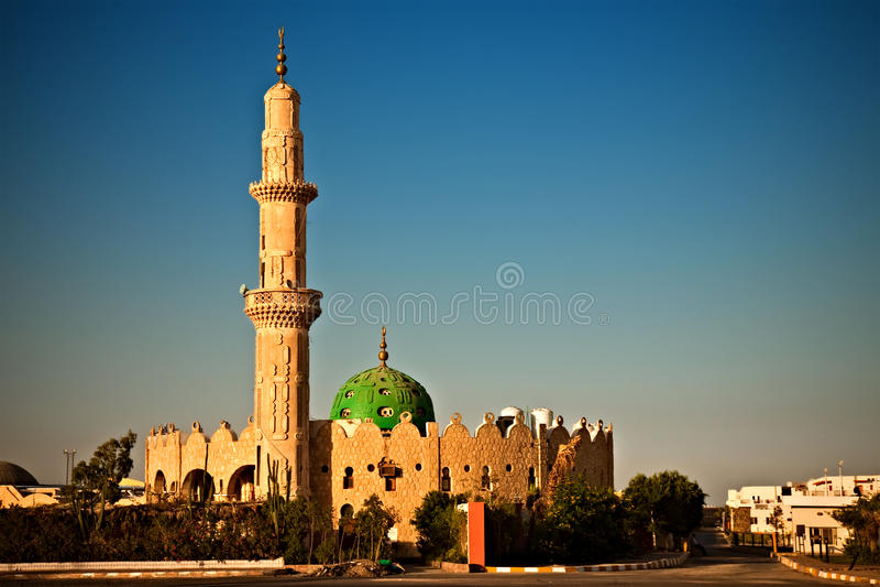 Moskee in Hurghada, Egypte stock foto