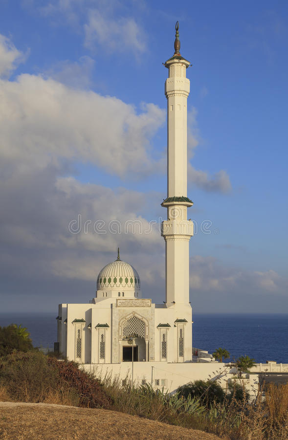Moskee Ibrahim-al-Ibrahim in Gibraltar stock foto's