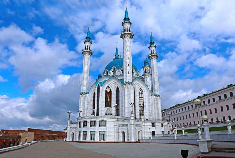 Moskee kul-Sharif in Kazan het Kremlin stock foto's