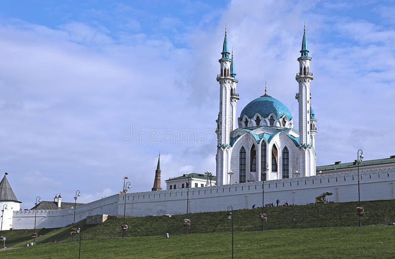 Moskee kul-Sharif in Kazan het Kremlin stock afbeelding