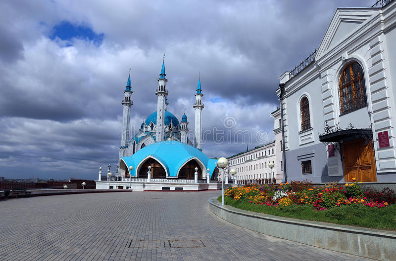 Moskee kul-Sharif in Kazan het Kremlin royalty-vrije stock foto's