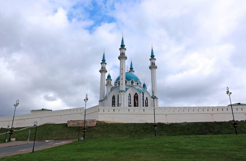 Moskee kul-Sharif in Kazan het Kremlin royalty-vrije stock fotografie