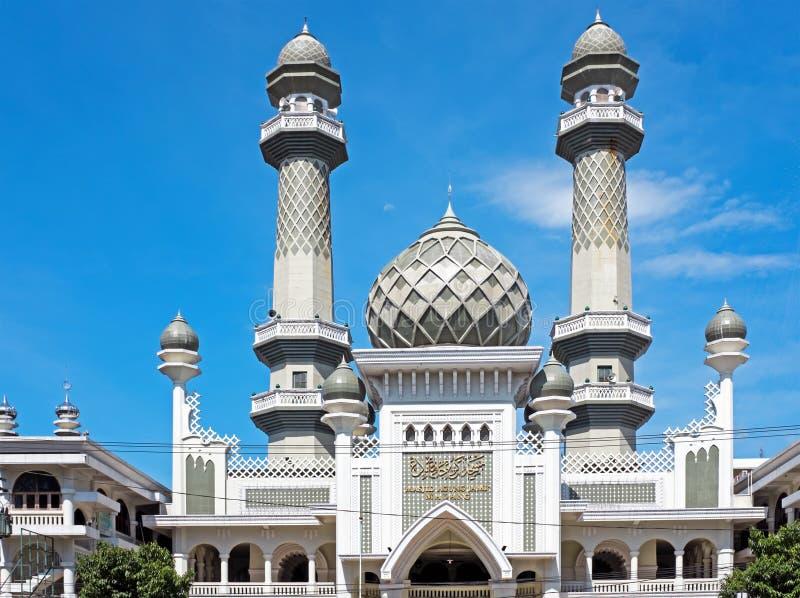 Moskee Masjid Agung Malang in Malang Java Indonesia stock afbeeldingen