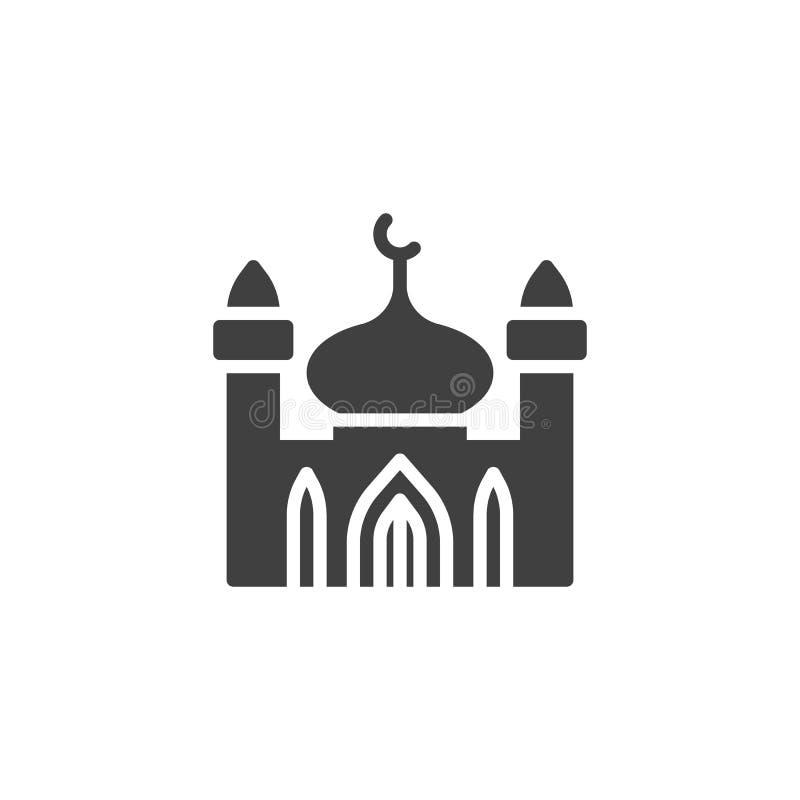 Moskee met minaret vectorpictogram vector illustratie