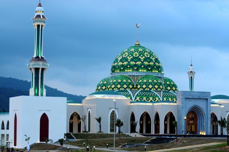 Moskee in Natuna-Eiland royalty-vrije stock fotografie