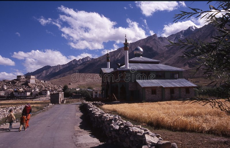 Moskee in padum royalty-vrije stock foto