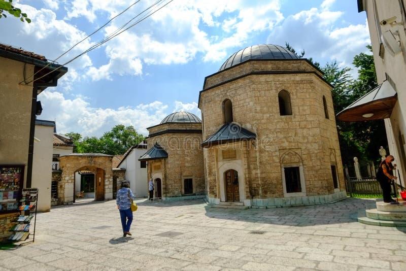 Moskee in Sarajevo stock fotografie