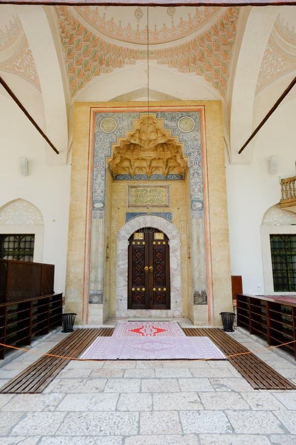 Moskee in Sarajevo stock foto's