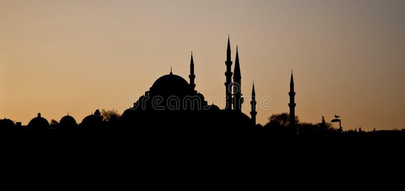 Moskee silhoutte stock foto