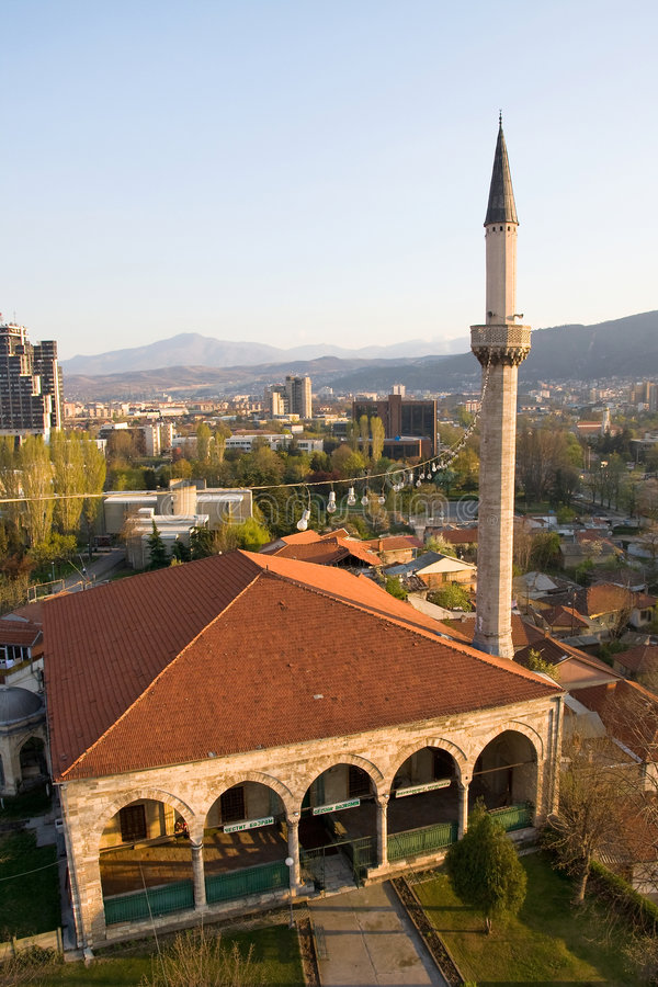 Moskee in skopje royalty-vrije stock foto