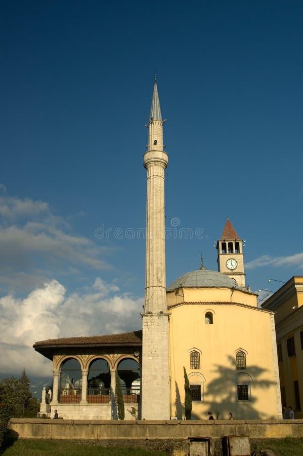 Moskee, Tirana, Albanië royalty-vrije stock foto's