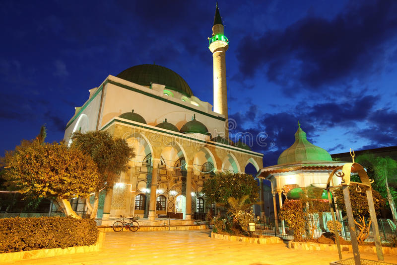 Moskee van al-Jazzar in Akko stock foto's