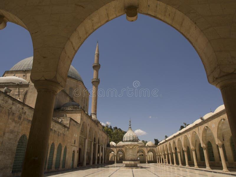 Moskee van Herz Ibrahim in Sanliurfa stock foto