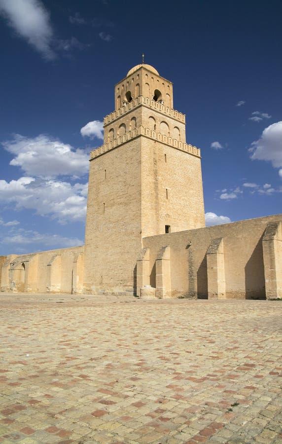 Moskee van Kairouan - de Plaats van de Erfenis van de Wereld van Unesco royalty-vrije stock afbeelding