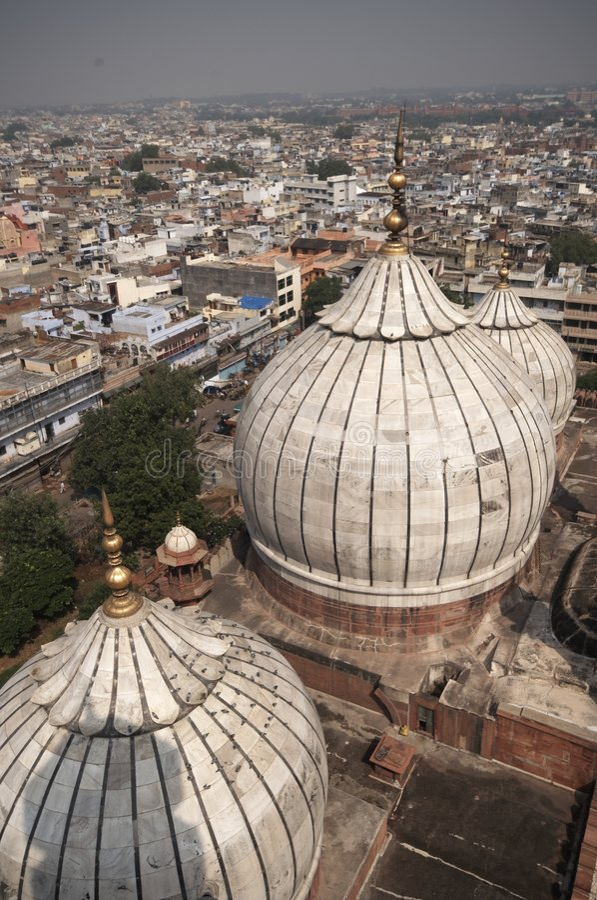 Moskee van Oud Delhi stock foto's