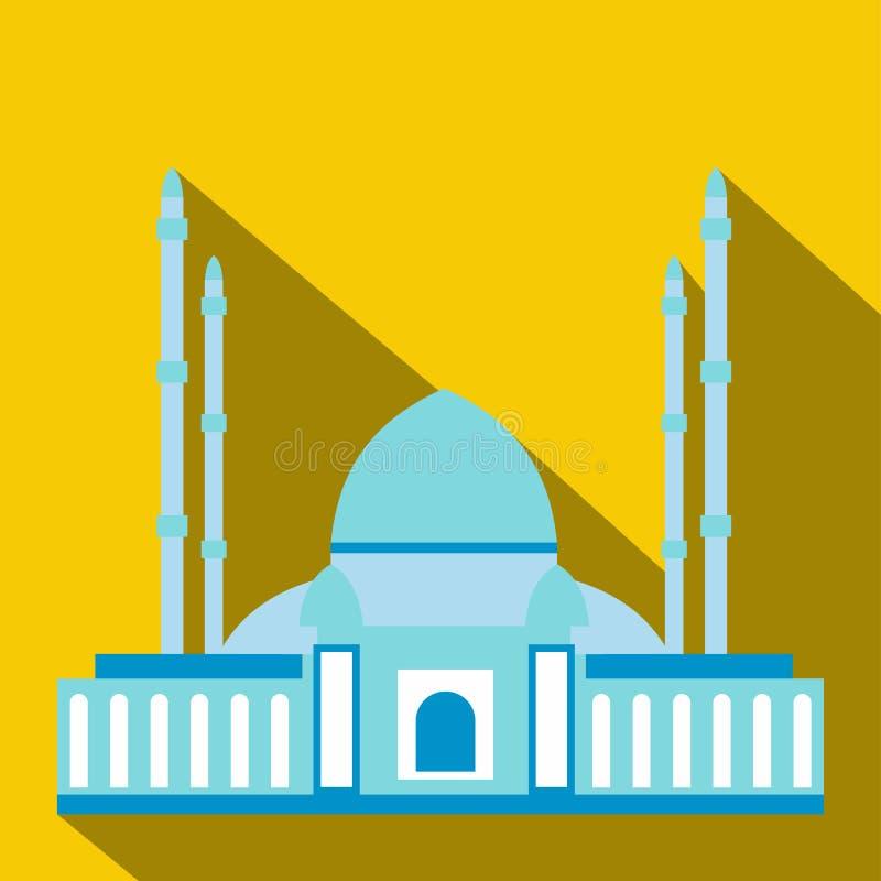 Moskee vlak pictogram stock illustratie