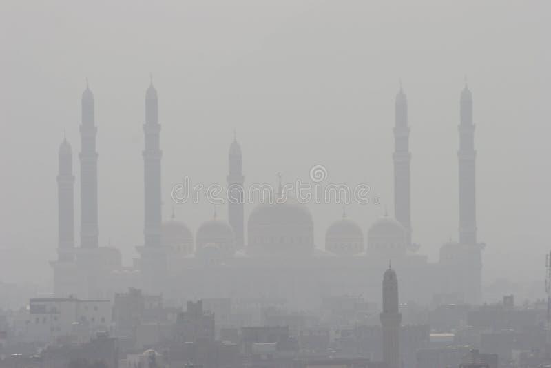 Moskee in Yemen stock foto