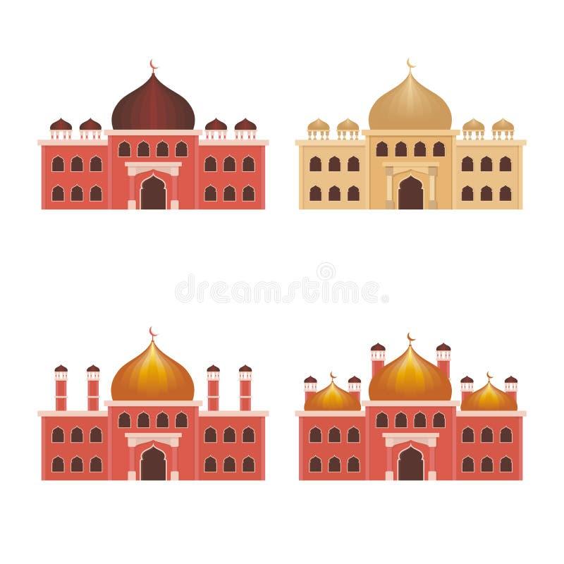 Moskeeillustratie met Vlakke stijl royalty-vrije illustratie
