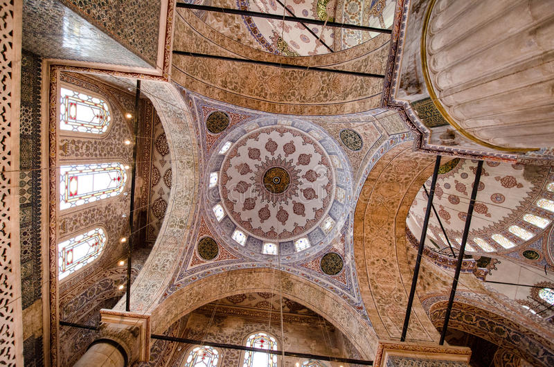 Moskeeplafond royalty-vrije stock afbeeldingen