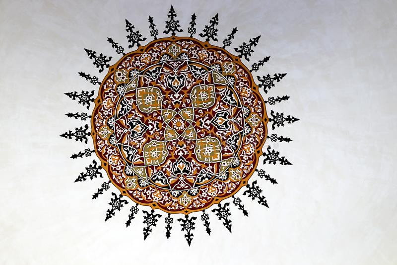 Moskees en Blauwe Hemel royalty-vrije stock afbeeldingen
