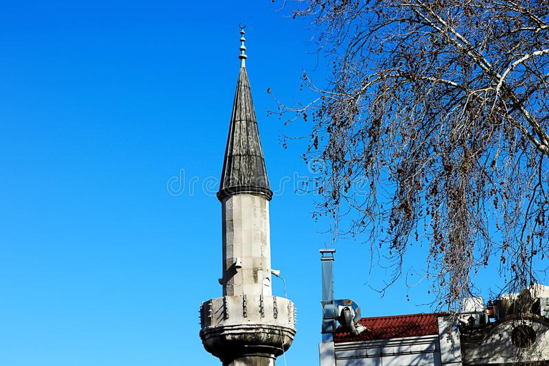 Moskees en Blauwe Hemel royalty-vrije stock foto's