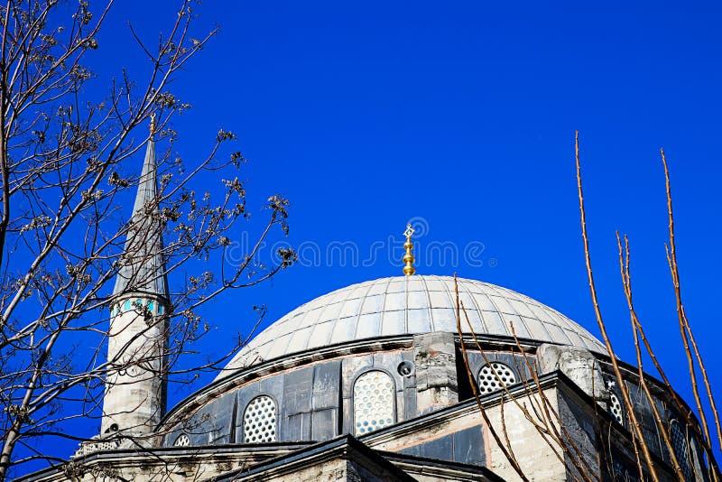 Moskees en Blauwe Hemel stock fotografie