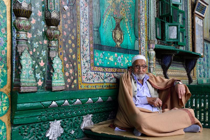 Moskees in Jammu en Kashmir, Srinagar royalty-vrije stock afbeeldingen