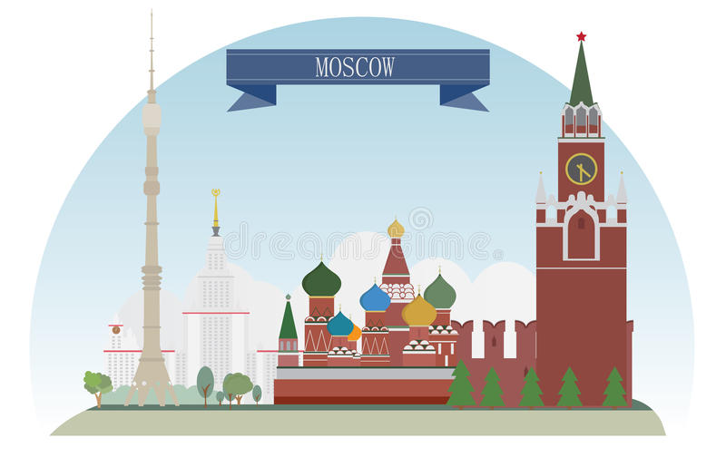 Moskou stock illustratie