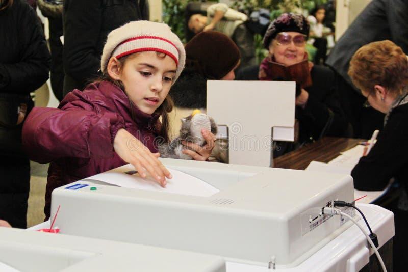 Moskou 4 december royalty-vrije stock afbeelding