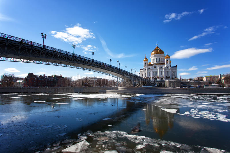 Moskou, Christus de Verlosserkathedraal stock fotografie