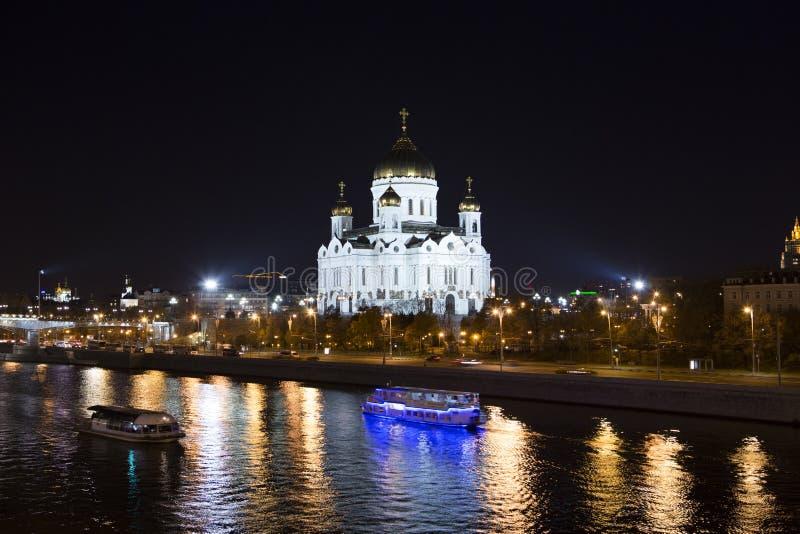 Moskou: Christus de Verlosserkathedraal stock foto