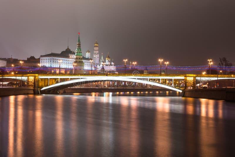 moskou De Grote Steen (Bolshoy Kamenny) Brug royalty-vrije stock afbeeldingen