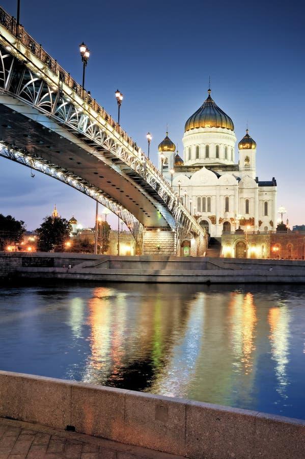 Moskou. De kathedraal van Christus de Verlosser. royalty-vrije stock fotografie