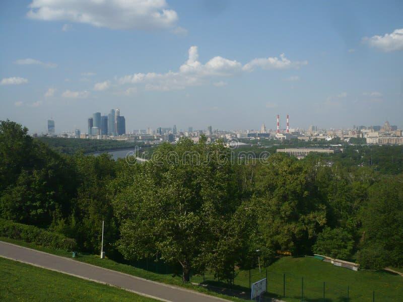 Moskou in de zomer stock fotografie
