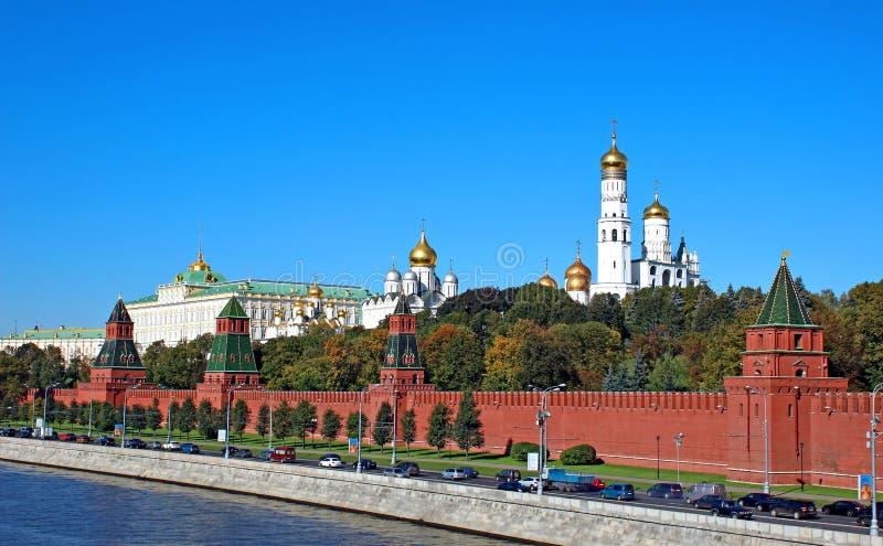 Moskou het Kremlin op een zonnige dag royalty-vrije stock foto